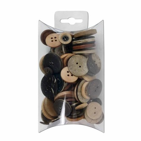 Favorite Findings Wood Mix Value Buttons, (Counting Buttons)