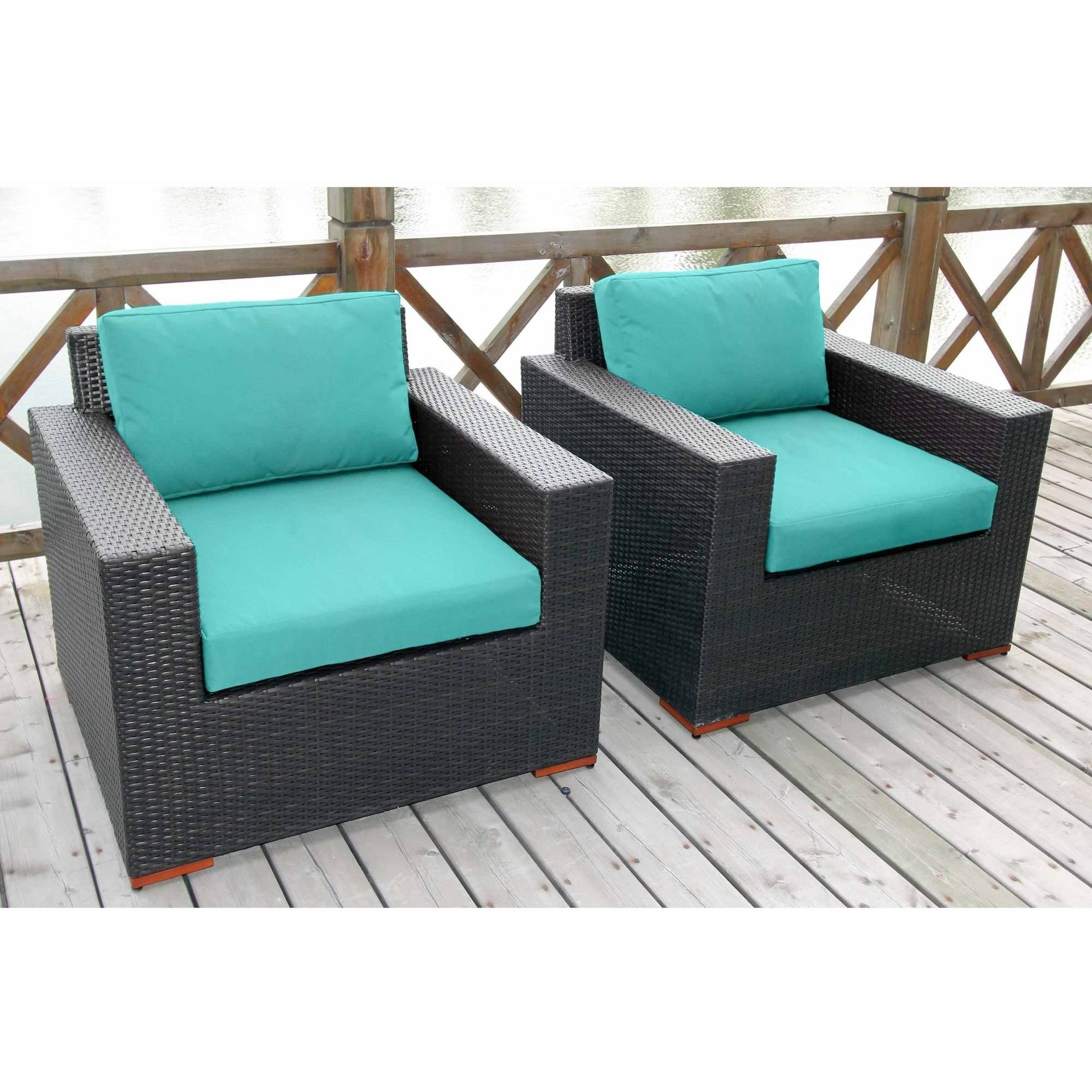 Nevis Deep Seating Club Chairs, Set of 2