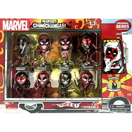 Exclusive Deadpool Metallic Chrome Figure Set of 8 Chimichanga Truck Package](Wallpapers Of Deadpool)