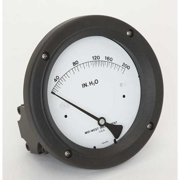 MIDWEST INSTRUMENT 142-AC-00-OO-200H Pressure Gauge, 0 to 200 In H2O
