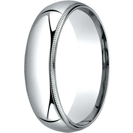 - Womens Platinum, 6mm Slim Profile Comfort-Fit Wedding Band with Milgrain