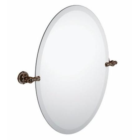 Moen DN0892ORB Gilcrest Bathroom Oval Tilting Mirror, Oil Rubbed (Bronze Oval Spring)