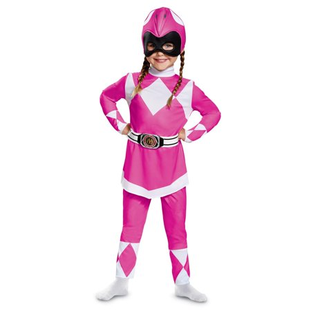 Pink Power Ranger Classic Toddler Halloween Costume - Mighty Morphin