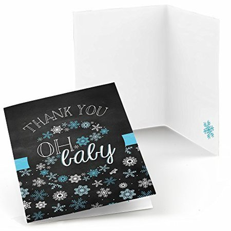oh baby winter baby shower thank you cards 8 count