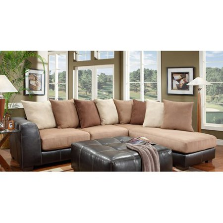 Chelsea home landon 2 piece sectional sea rider saddle for Affordable furniture 3 piece sectional in wyoming saddle