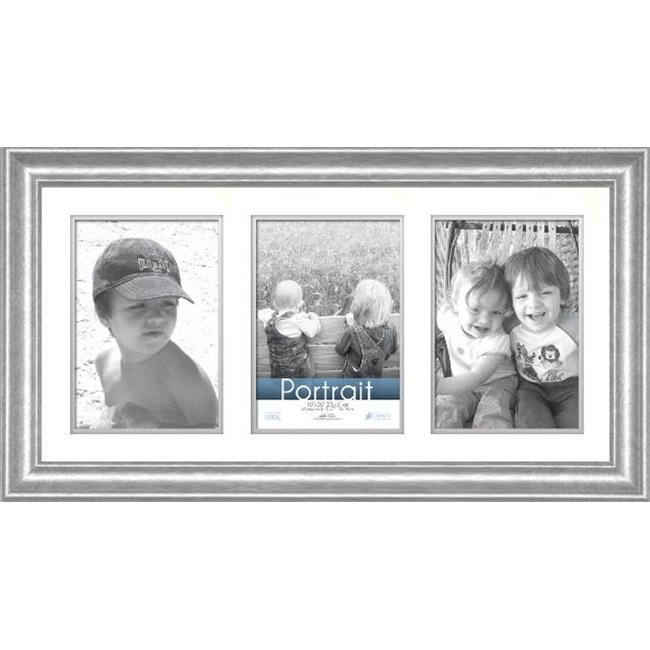 Timeless Frames 45193 Lauren Collage Silver Wall Frame, 10 x 20 inch