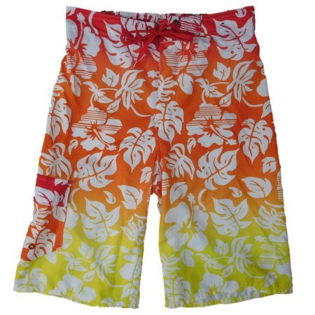 f3b77091c0 Boys Yellow Orange & Red Tropical Hawaiian Cargo Swim Trunks Board Shorts.  Average rating:0out of5stars, based on0reviewsWrite a review. HANG TEN.  Image 1 ...