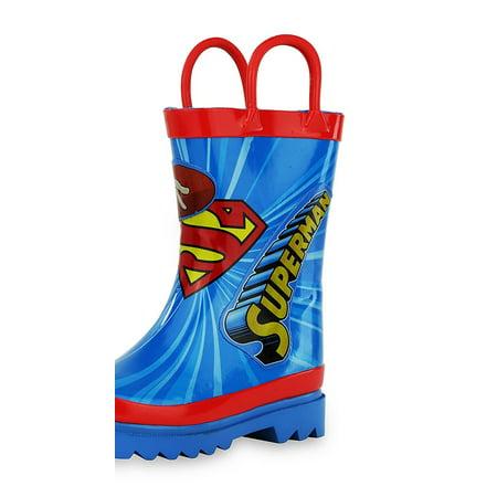 DC Comics Superman Boy's Rain Boots (Toddler/Little Kid) (Dc Snowboarding Boots)