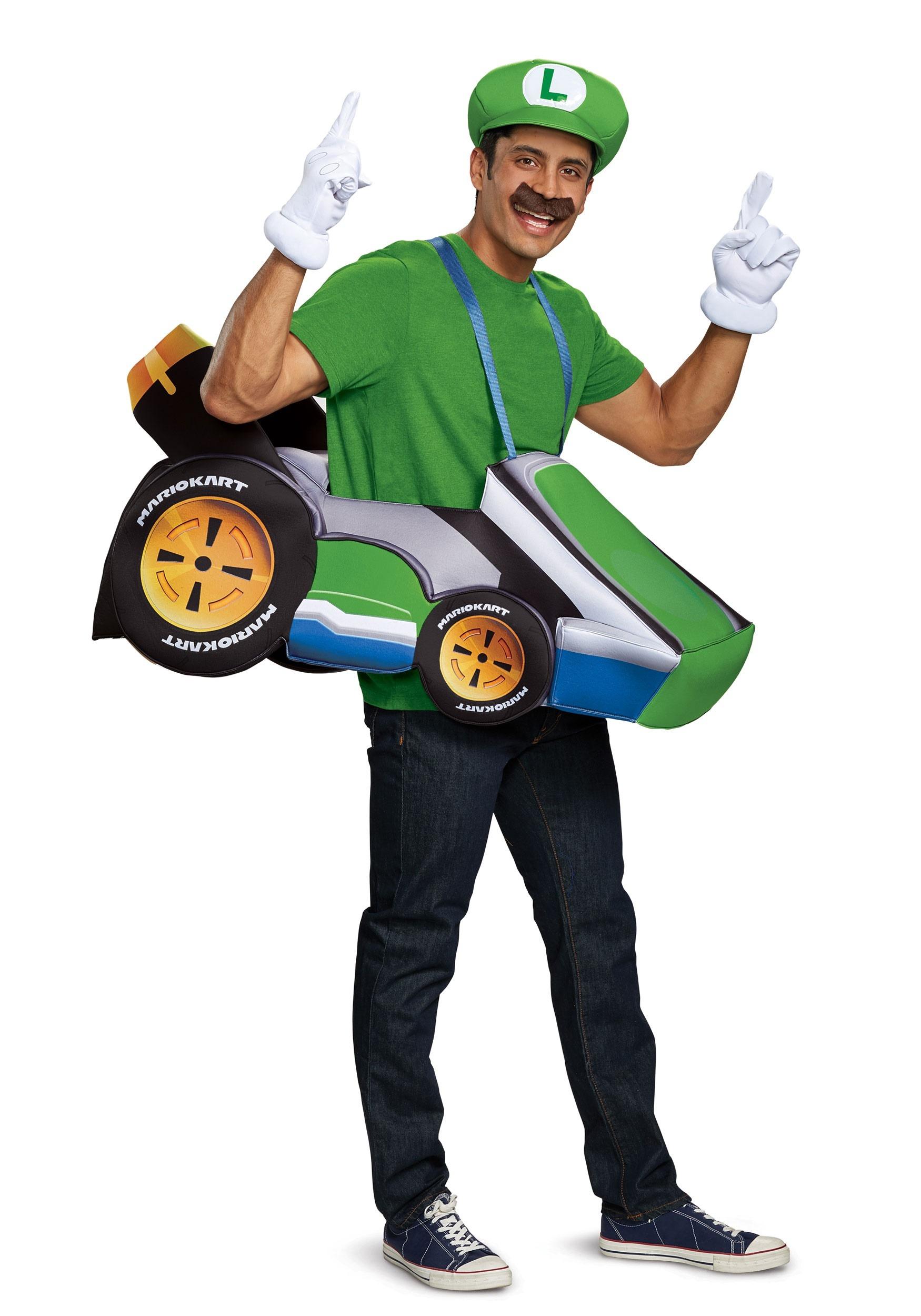 Adult Princess Peach Mario Kart Costume Size Standard