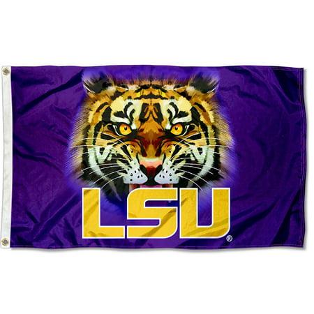 Louisiana State LSU Tigers Tiger Eyes 3' x 5' Pole Flag