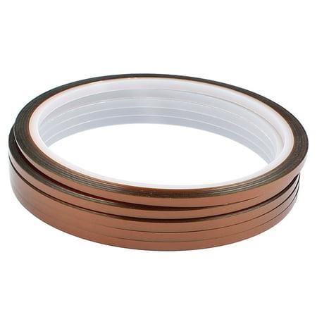 5 Pcs 0.3CM Width 30M Long Kapton Tape High Temperature Heat Resistant Polyimide - image 2 of 2