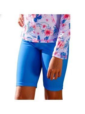Sun Emporium Girls Ocean Blue Printed Surf Shorts 10