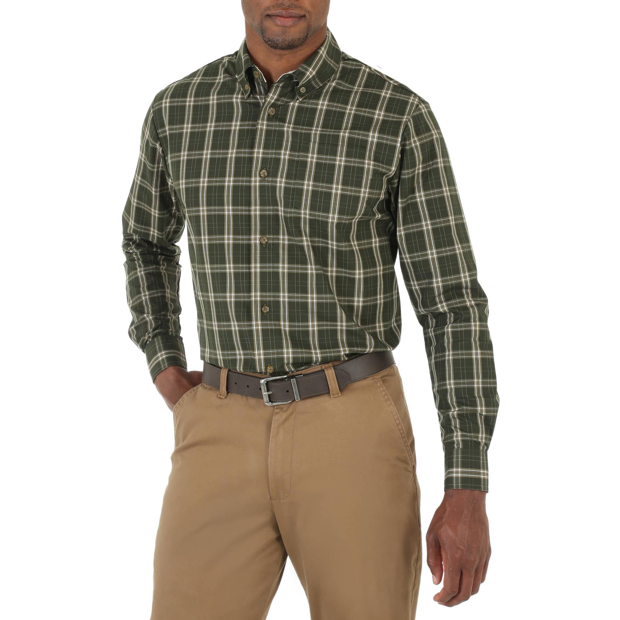 Wrangler Men's Long Sleeve Woven Shirt