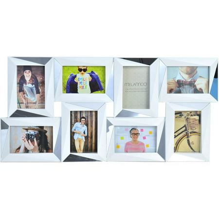Melannco 8-Opening Dimensional Photo Collage, White, Picture Frame ...