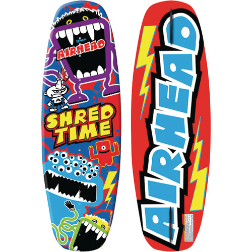 Airhead AWH-1030 SHRED TIME Youth Wakeboard for Riders up to 130 lbs.,Venom Bindings Size 4 to 8 by Kwik Tek