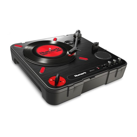 - Numark PT01 Scratch | Portable Turntable with Built-In DJ Scratch Switch, Speaker, & Carrying Handle