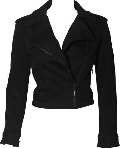 Cotton Knit Motorcycle Jacket