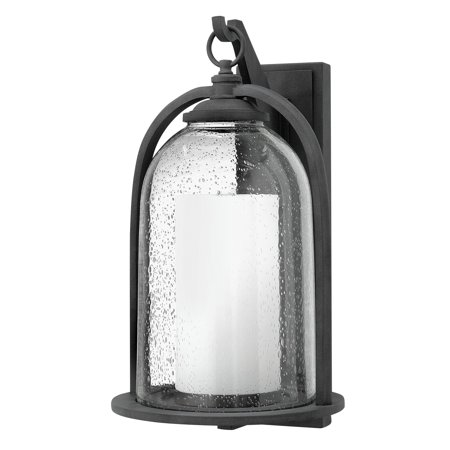 Hinkley Lighting 2618 1 Light 20 Tall Candle Style Lantern Wall Sconce With Clear Seedy Gl Shade From The Quincy Collection
