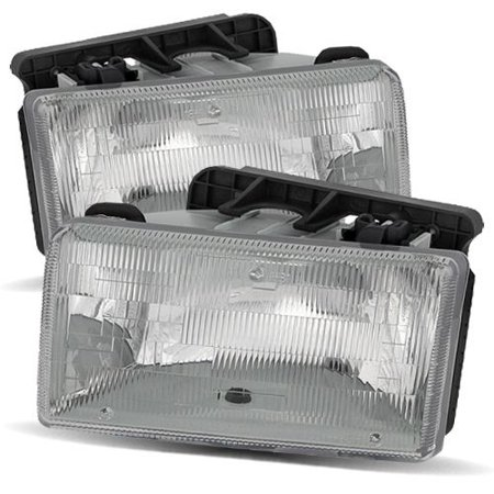 - For 1991-1996 Dodge Dakota Stock Style Chrome Crystal Headlights Lamps