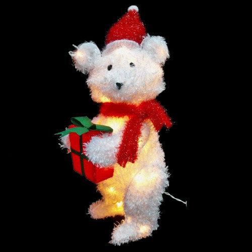 Citi-Talent LTD Xmas Fluffy Teddy Bear Christmas Decoration