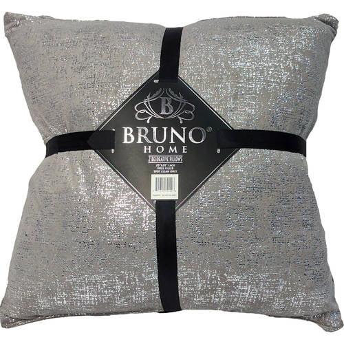 Bruno Home Decor 2pk Foil Decorative Pillows by