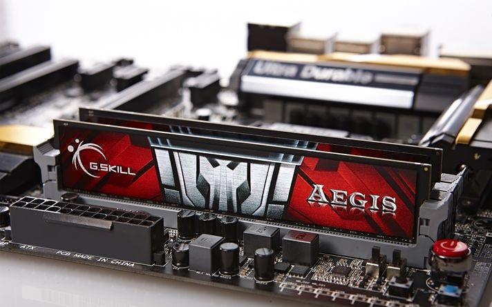 8GB G.Skill Aegis DDR3 PC3-12800 1600MHz Dual Channel kit (CL11) 2x4GB 1.5V