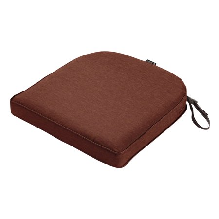 18w Outdoor Patio Cushion (Classic Accessories Montlake FadeSafe Contoured Patio Dining Seat Cushion, 18
