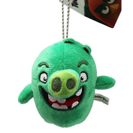 Angry Birds Bad Green Piggy Keychain Plush Toy - Bird Keychain