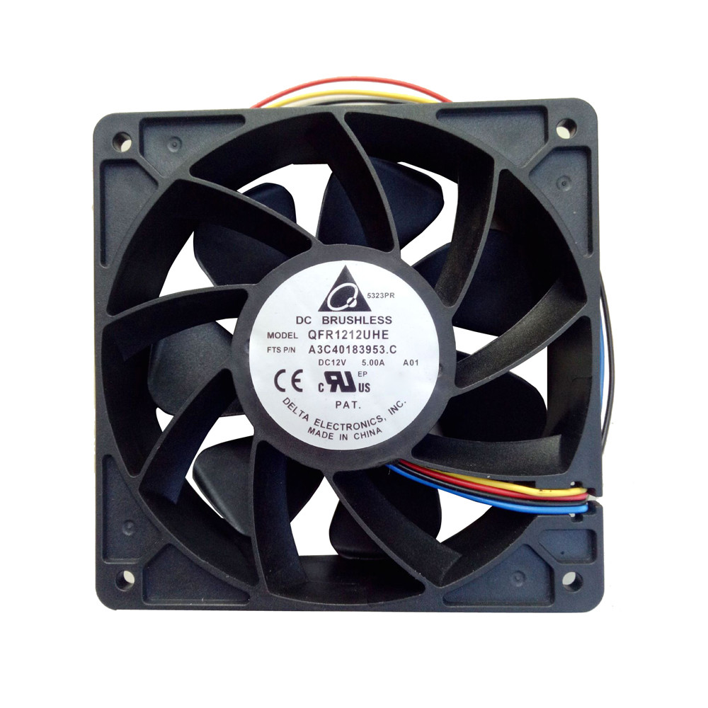 Huppin's 7500RPM Cooling Fan Replacement 4-pin Connector For Antminer Bitmain S7 S9