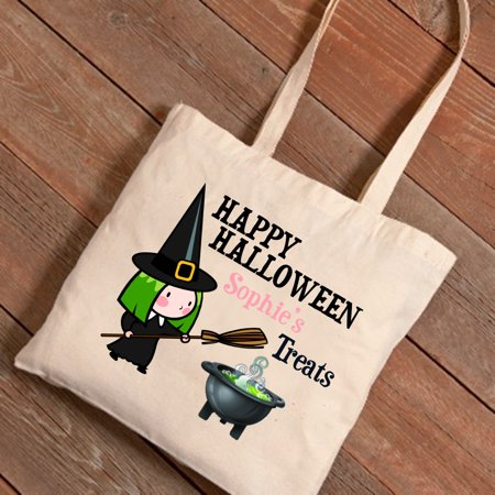 Personalized Halloween Trick-or-Treat Canvas Bag - Witch Potion