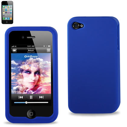 Silicone Case For Iphone 4S Navy