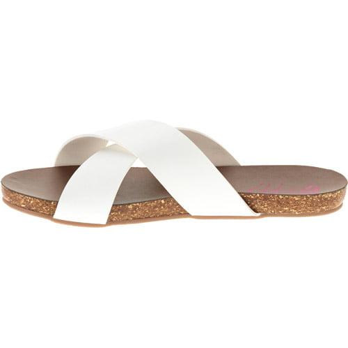 86093b748996 GUPPY LOVE - Guppy Love Women s Leather Criss Cross Slide Sandal ...