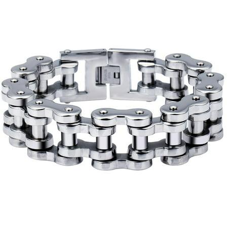 7d6e65792f9bf 23mm Wide Heavy Mens Boys Biker Motorcycle Chain Bracelet 316L Stainless  Steel 7-11inch