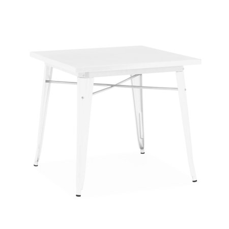 48 Inch Square Dining Table - Dreux Glossy White Steel Dining Table 30 Inch