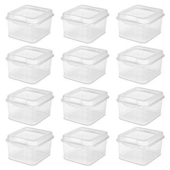 Sterilite 12-Pack Small Clear Flip Top Storage Box Set