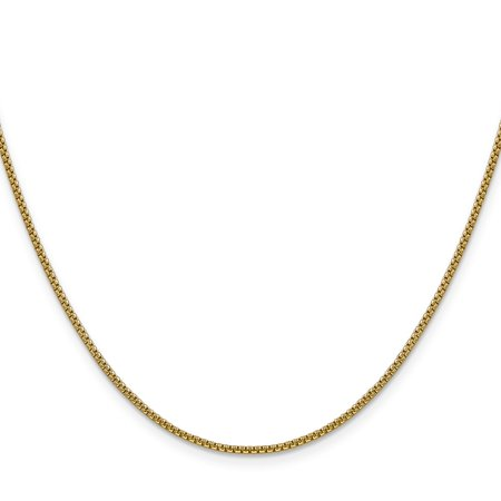Round Hollow Rolo Chain - 14k Yellow Gold 1.50mm Hollow Round Box Chain