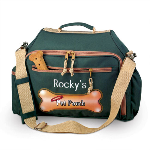 Personalized Pet Pouch Overnight Bag