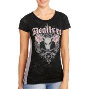 Realtree Women's Short Sleeve Burnout T-Shirt