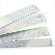 Trimbrite R81316 Conspicuity, 2 in. x 12 in. White - 20 Strips