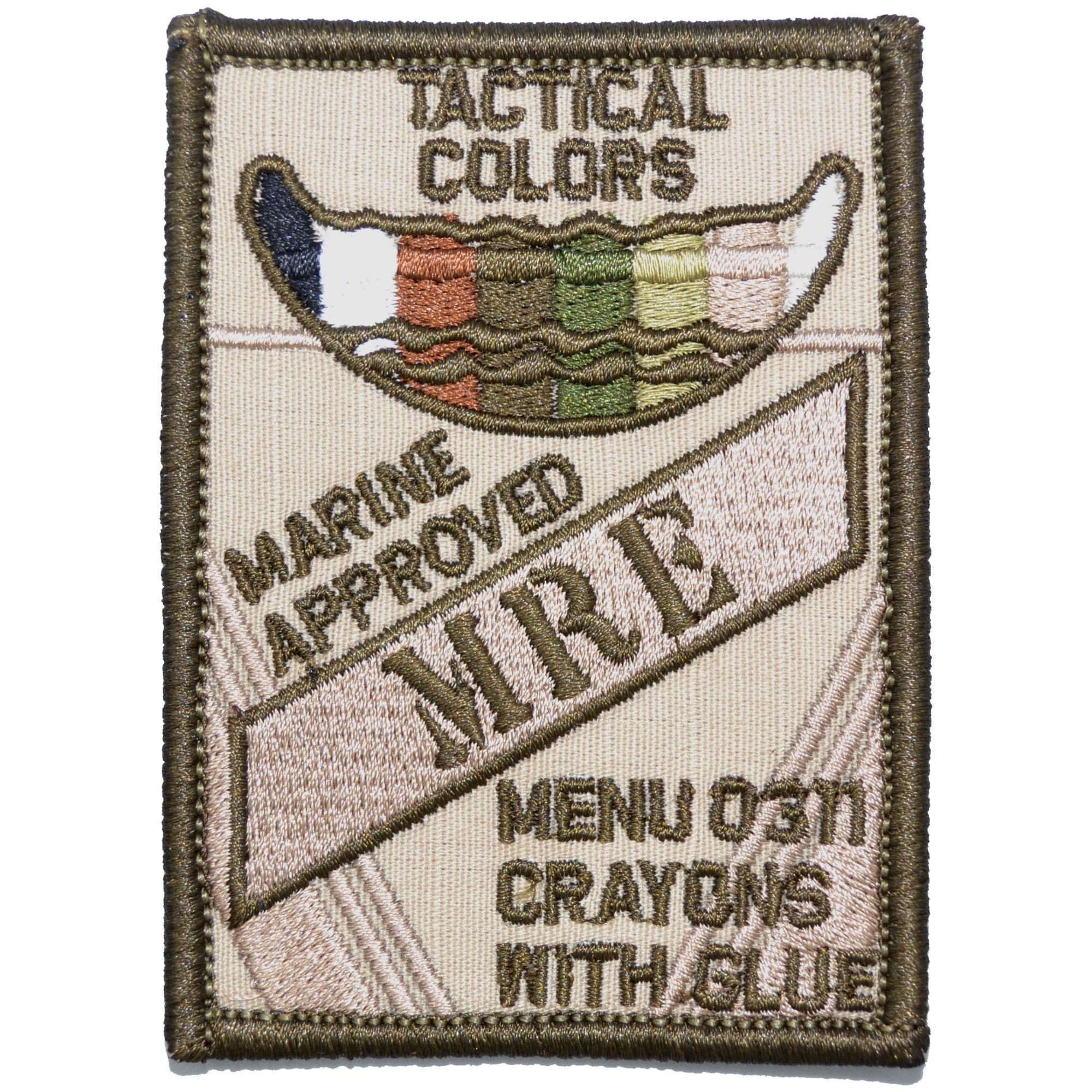 Tactical Color Crayons Marine Approved MRE 2.5x3.5 Patch by Tactical Gear Junkie