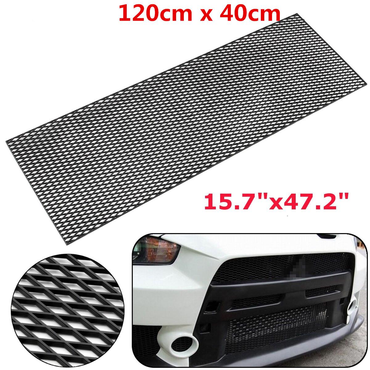 47.2''x15.7'' Black Honeycomb Mesh Grill ABS Plastic Spoiler Bumper Vent Side Vents Hoods Universal
