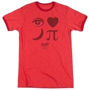 Moon Pie Eye Pie Mens Adult Heather Ringer Shirt