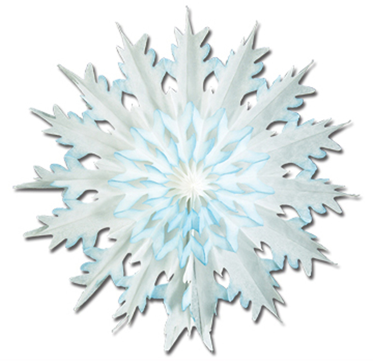 "2 Count 17"" Dip Dyed Snowflake Holiday Hanging Party Christmas Decoration"