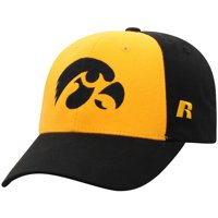 Men's Russell Athletic Gold/Black Iowa Hawkeyes Endless Two-Tone Adjustable Hat - OSFA