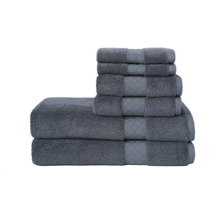 LOFT by Loftex Lattice Luxe Solid Cotton 6-Piece Towel Set (Linen Loupe)