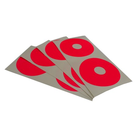 WHEEL STICKER DISK FOR 1/10 BUGGY / HOT PINK Multi-Colored