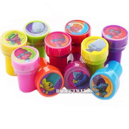 12 Trolls Dreamworks Character Authentic Licensed Self Inking Stampers - Self Inking Stamper