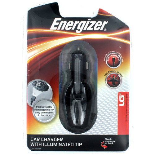 Energizer Swivel Car Charger with LED for LG 8500, Chocolate