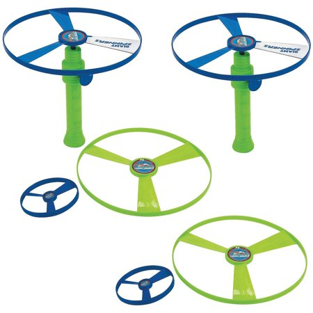 Flying Saucer Toy Set - Pack Of 2 4 Piece Set, Colors Green And (Saucer 4 Piece Set)