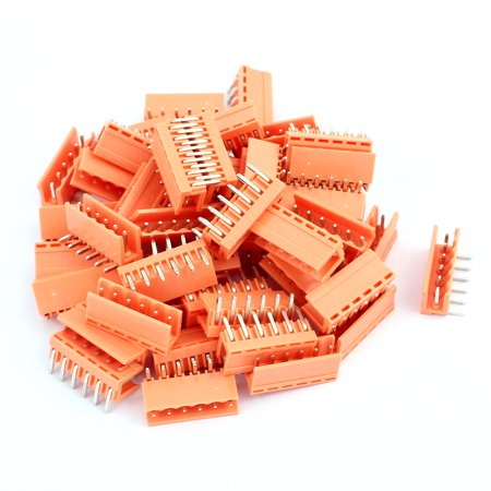 50Pcs AC300V 3 96mm Pitch 6P Right Angle Needle Plug-In PCB Terminal Block